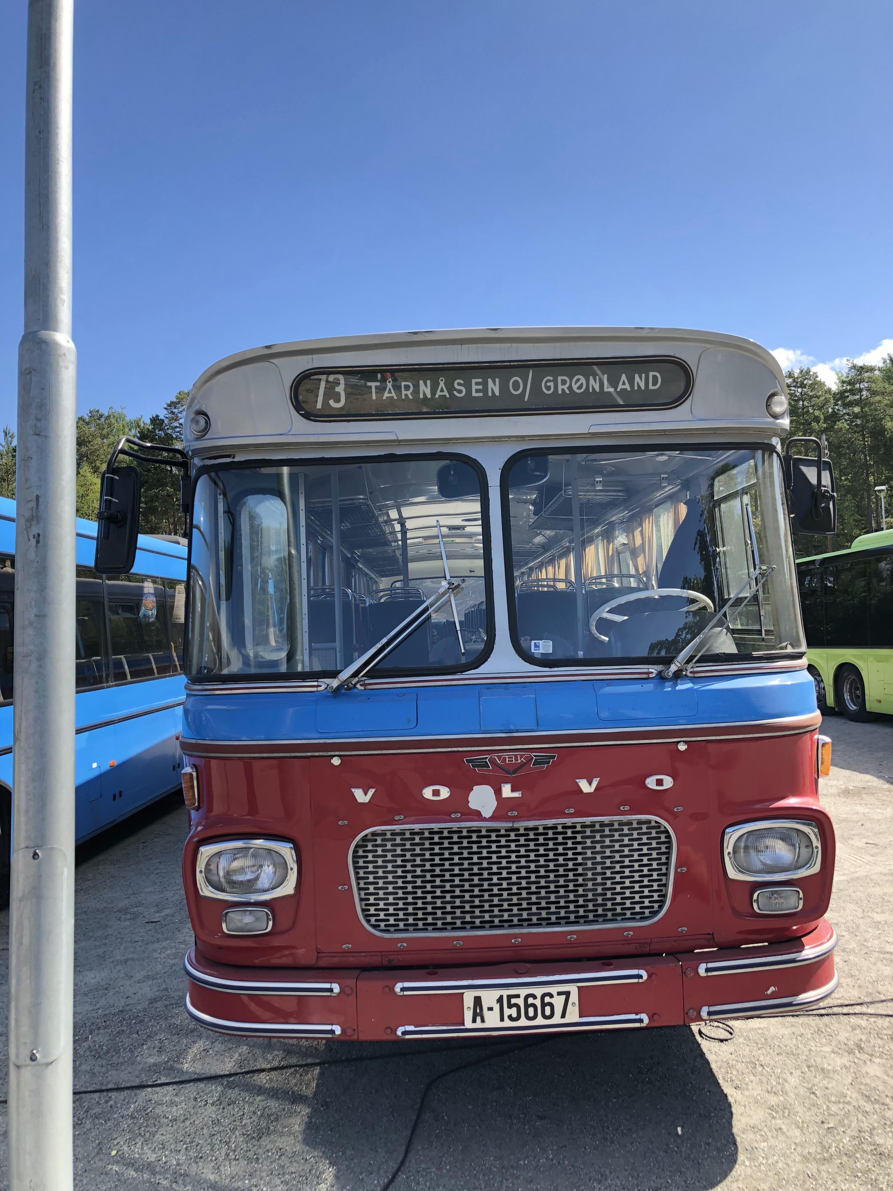 Bussen deltok på utstilling på Tangenten på Nesodden